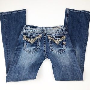 Miss Me Girls Size 12 Embellished Bootcut Jeans